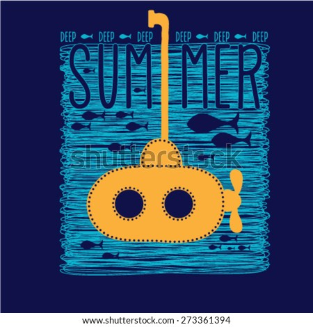 summer graphic design with a