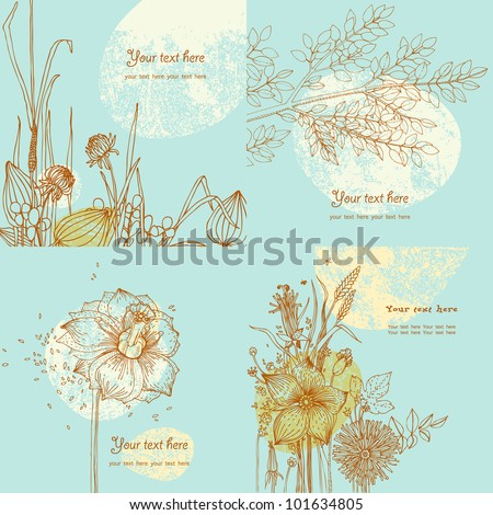 summer greeting cards with wild