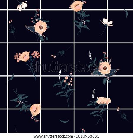 summer grid seamless pattern