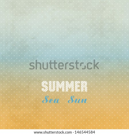 Summer grunge background. Easy editable