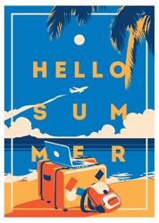Summer Holiday and Summer Camp poster.