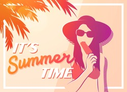 Summer Holiday and Summer poster vintage style. vector illustration.
