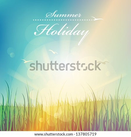 Summer holiday, beautiful vector background