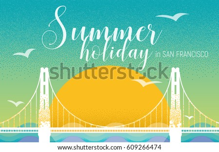 summer holiday card design in