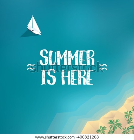 summer holiday poster  banner