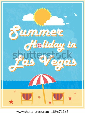 Summer Holiday Poster Design, vector illustration.