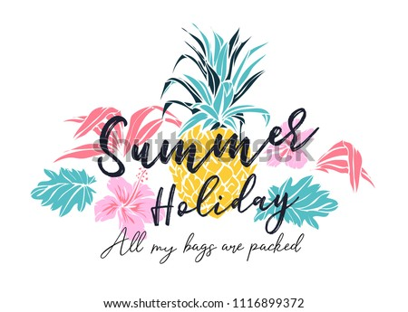 summer holiday slogan with
