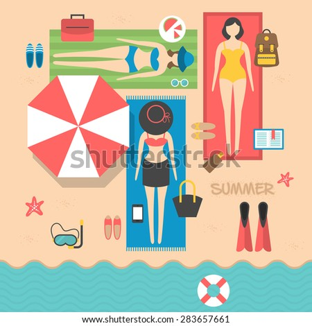 summer holiday vacation on the