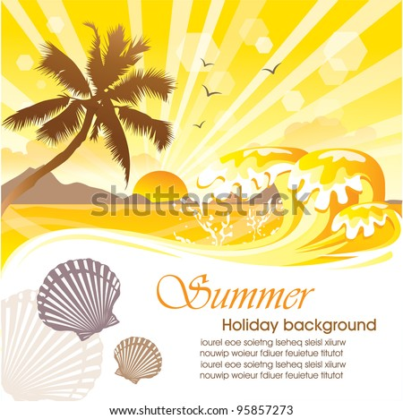 Summer holiday vector design 04