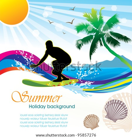 Summer holiday vector design 02