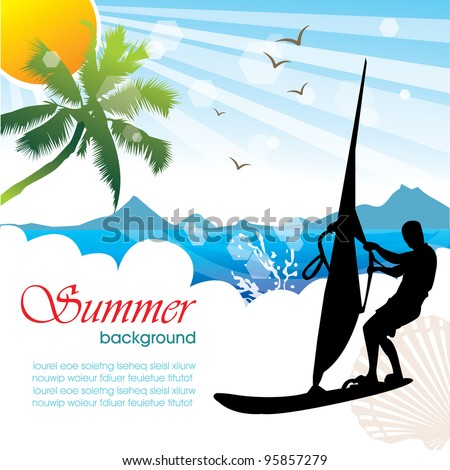 Summer holiday vector design 03