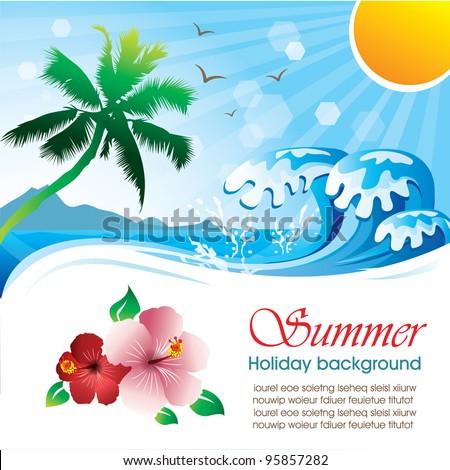 Summer holiday vector design 01