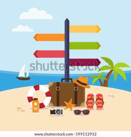 summer holidays background on