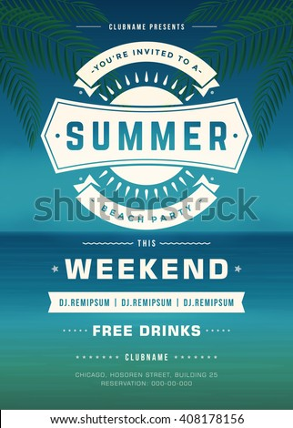 summer holidays beach party