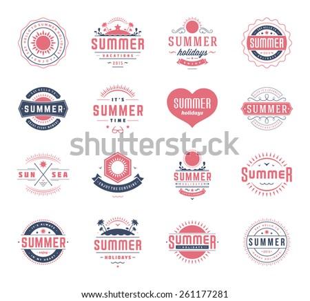 summer holidays design elements