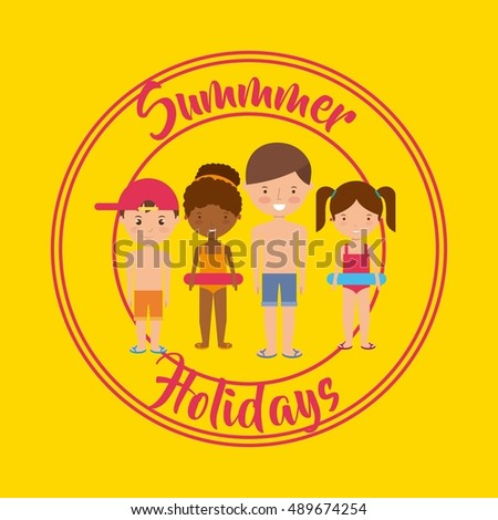 summer holidays enjoy icon vector illustration design
