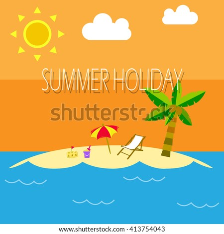 Summer Holidays in the beach