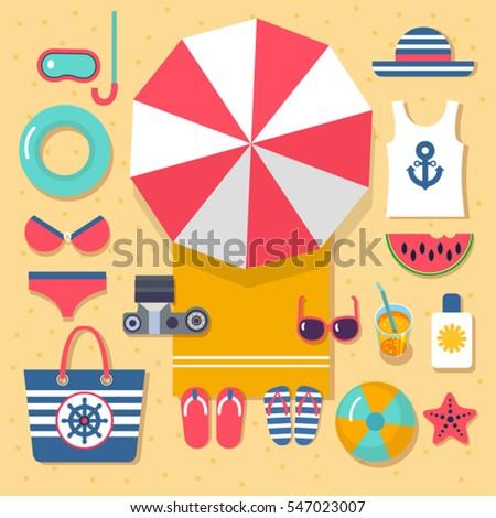 summer holidays on beach