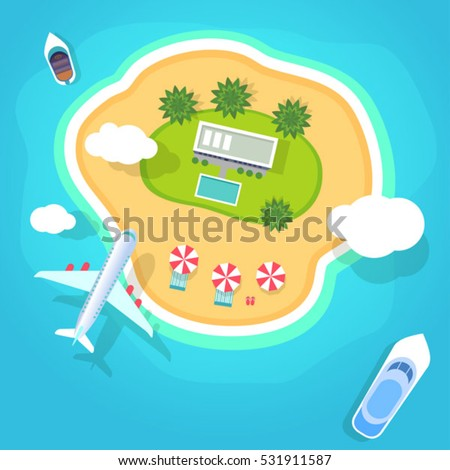 summer holidays on beach vector