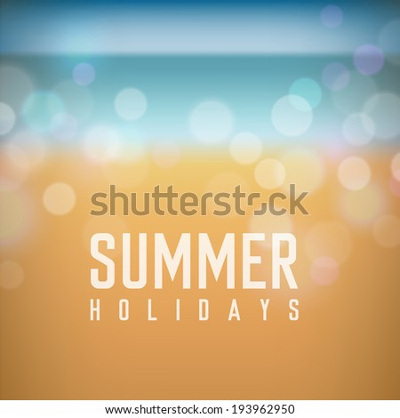 summer holidays poster on