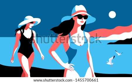 summer holidays two female
