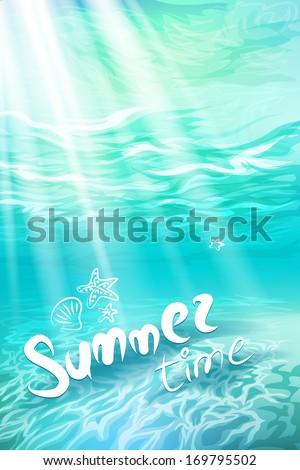 summer holidays underwater