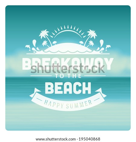 Summer holidays vector background. Summer message for your design vector illustration.