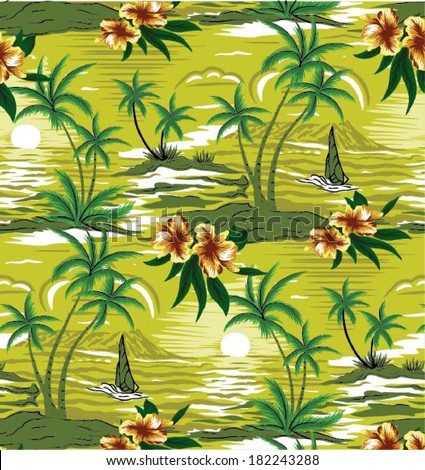 Stock Photo Summer holidays - vector.Coconut palm tree
