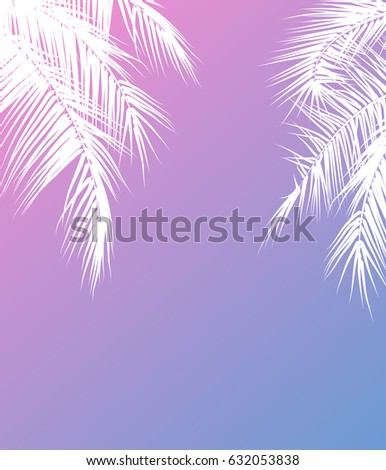 summer holidays vector illustration with palm trees template vector