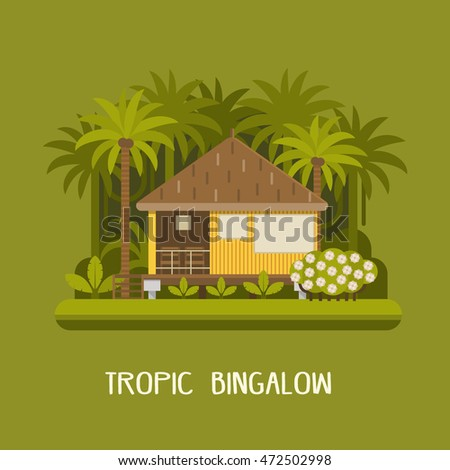summer house in jungle forest