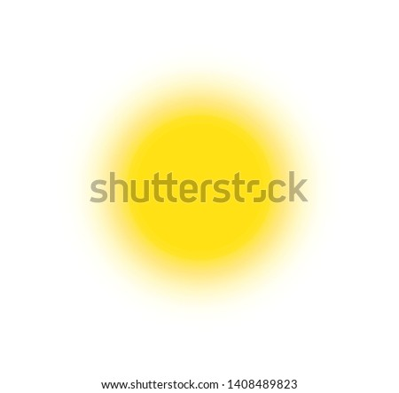 Summer icon. Sunny bright circle shape, sun shine brightly, flat simple logo template. Modern tourism emblem idea. Concept banner design, vector illustration on white background.