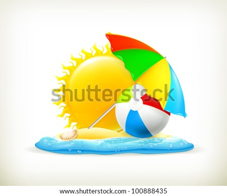 Summer icon, vector