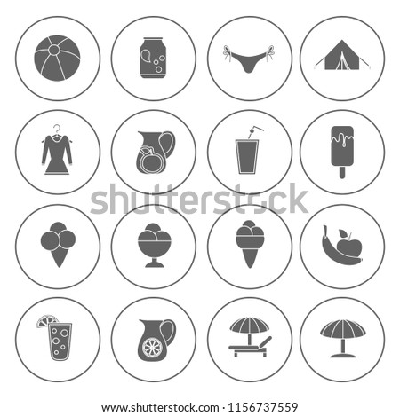 Summer Icons, beach and Summer icons set - travel for vacation sign and symbols - holiday illustrations