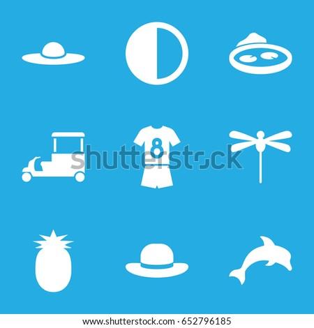 summer icons set set of 9