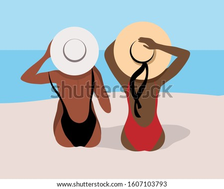summer illustration with a