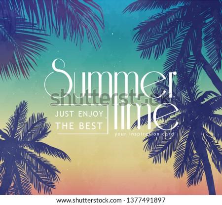 summer inspiration retro card