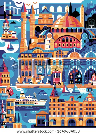 summer istanbul travel poster