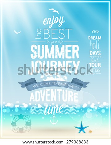 summer journey poster with