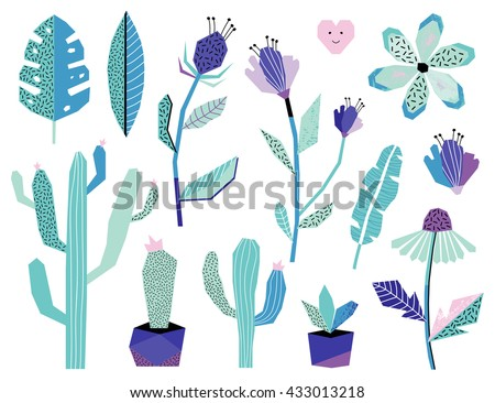 summer jungle plants and
