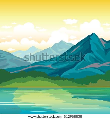summer landscape   blue