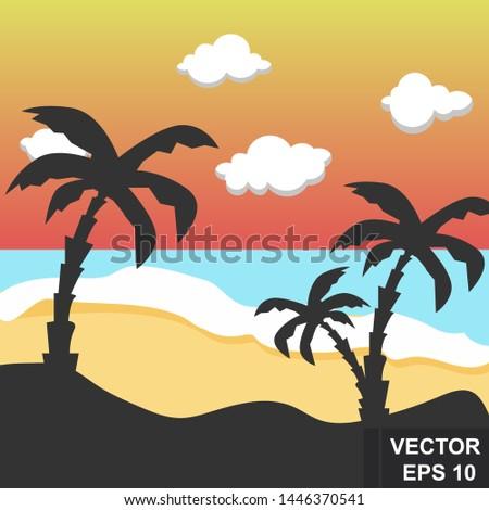 summer landscape bright