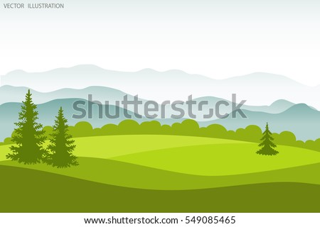 summer landscape flat style