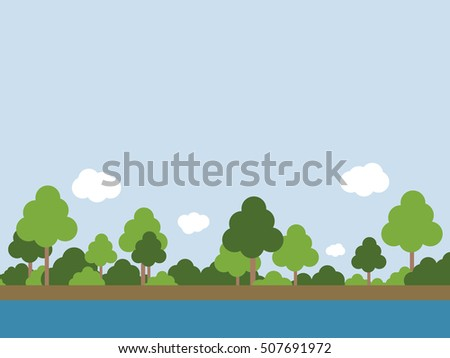 summer landscape forest near