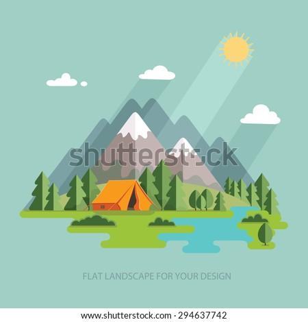 summer  landscape morning in