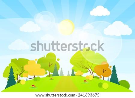 summer landscape mountain