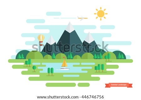summer landscape nature