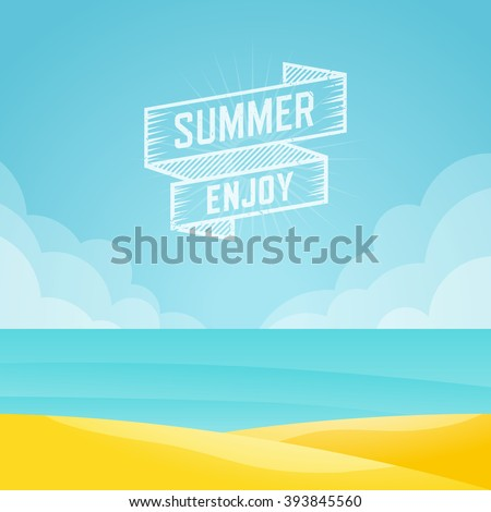 summer landscape  seascape
