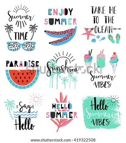 summer lettering scandinavian