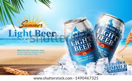 summer light beer ads design