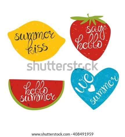 summer logo hello summer say